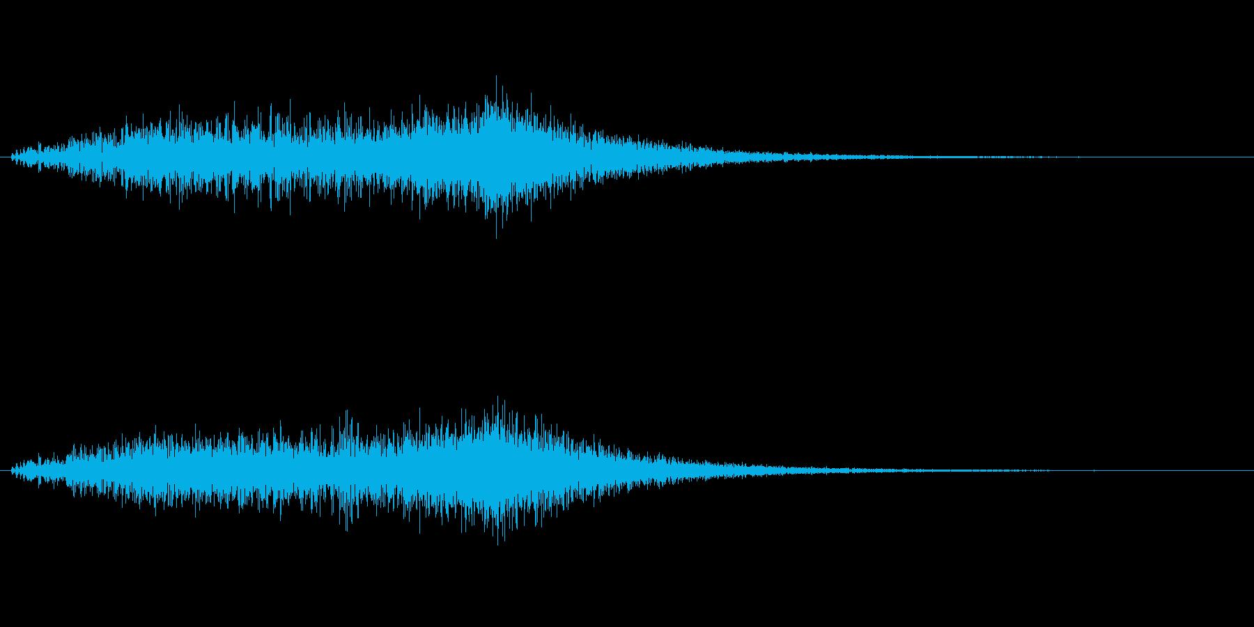 ヒュオーン↑(風の魔法、エフェクト)の再生済みの波形