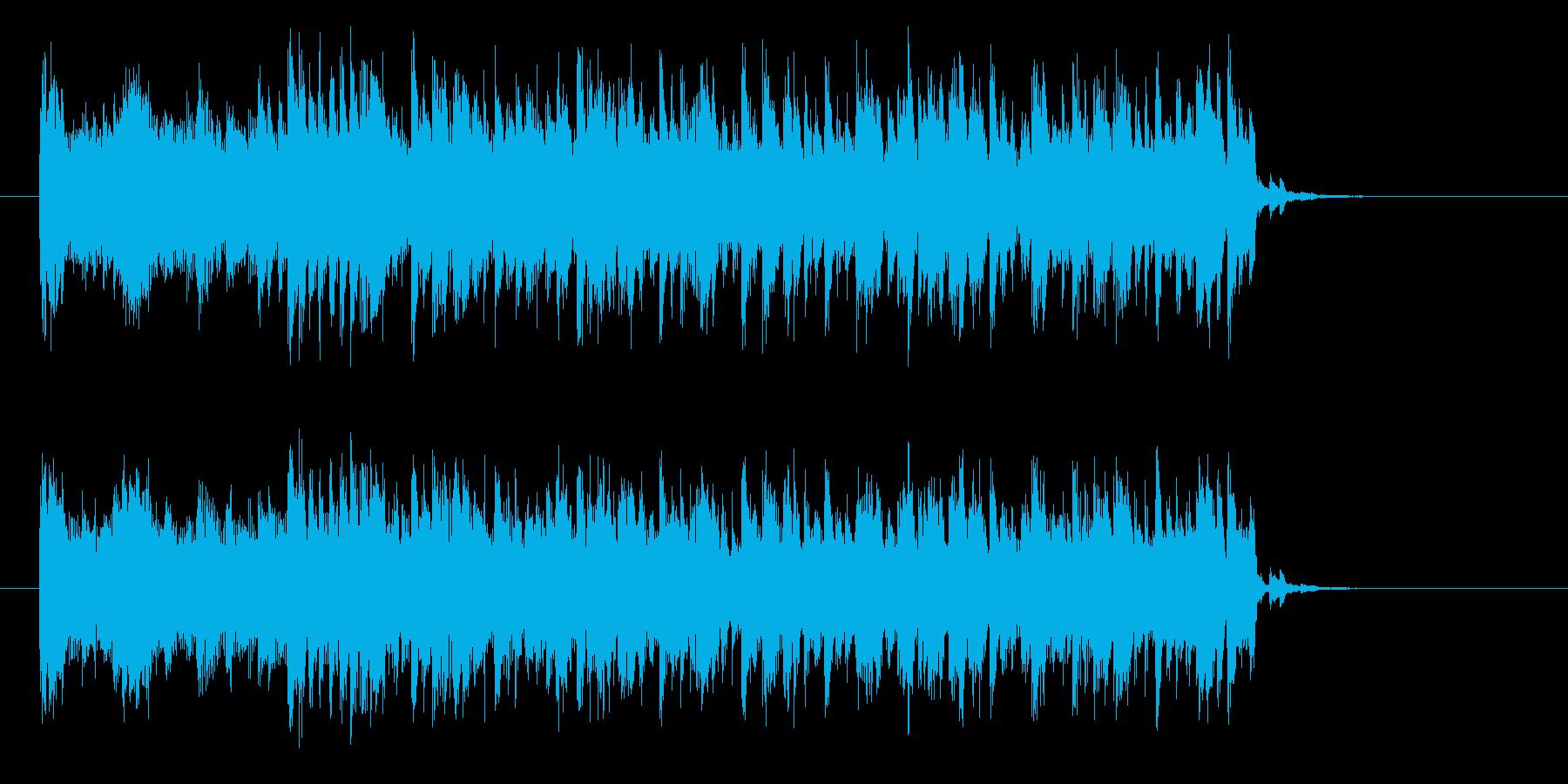 エキサイティングでクールなビートジングルの再生済みの波形