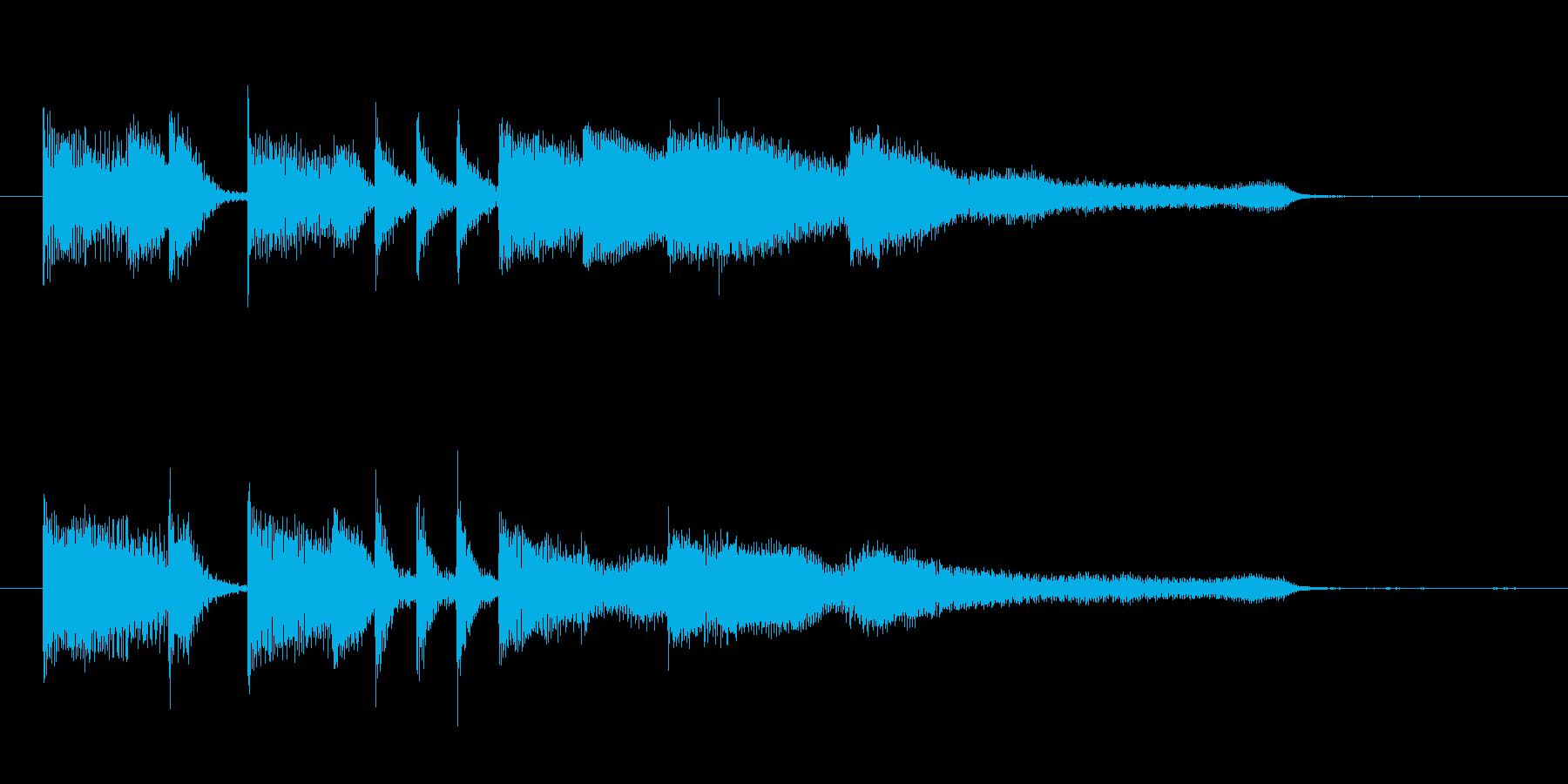 爽やかなピアノのジングルの再生済みの波形
