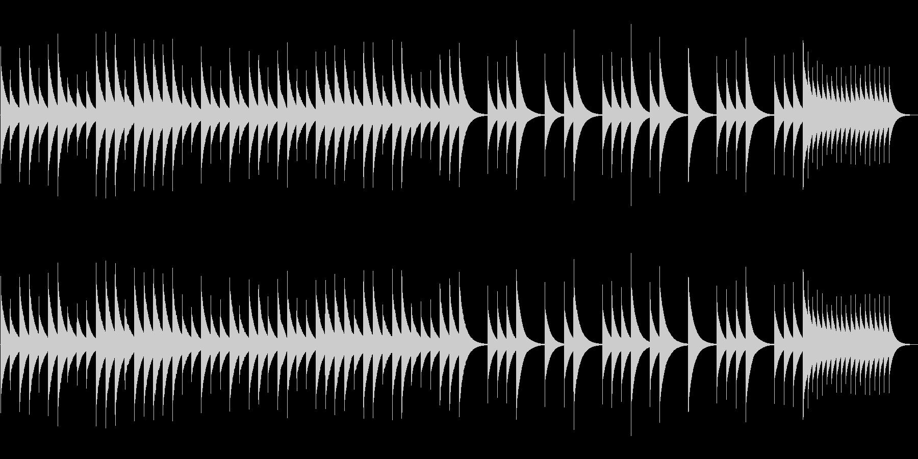 追憶【オルゴール・1ループぴったり】の未再生の波形