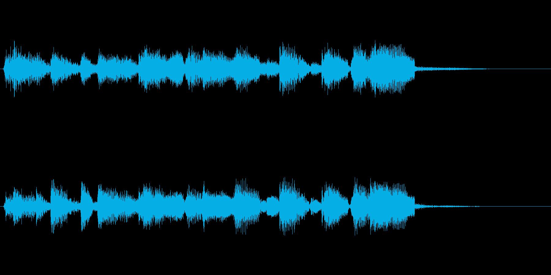 企業ロゴ表示用サウンドロゴ3(躍動感)の再生済みの波形