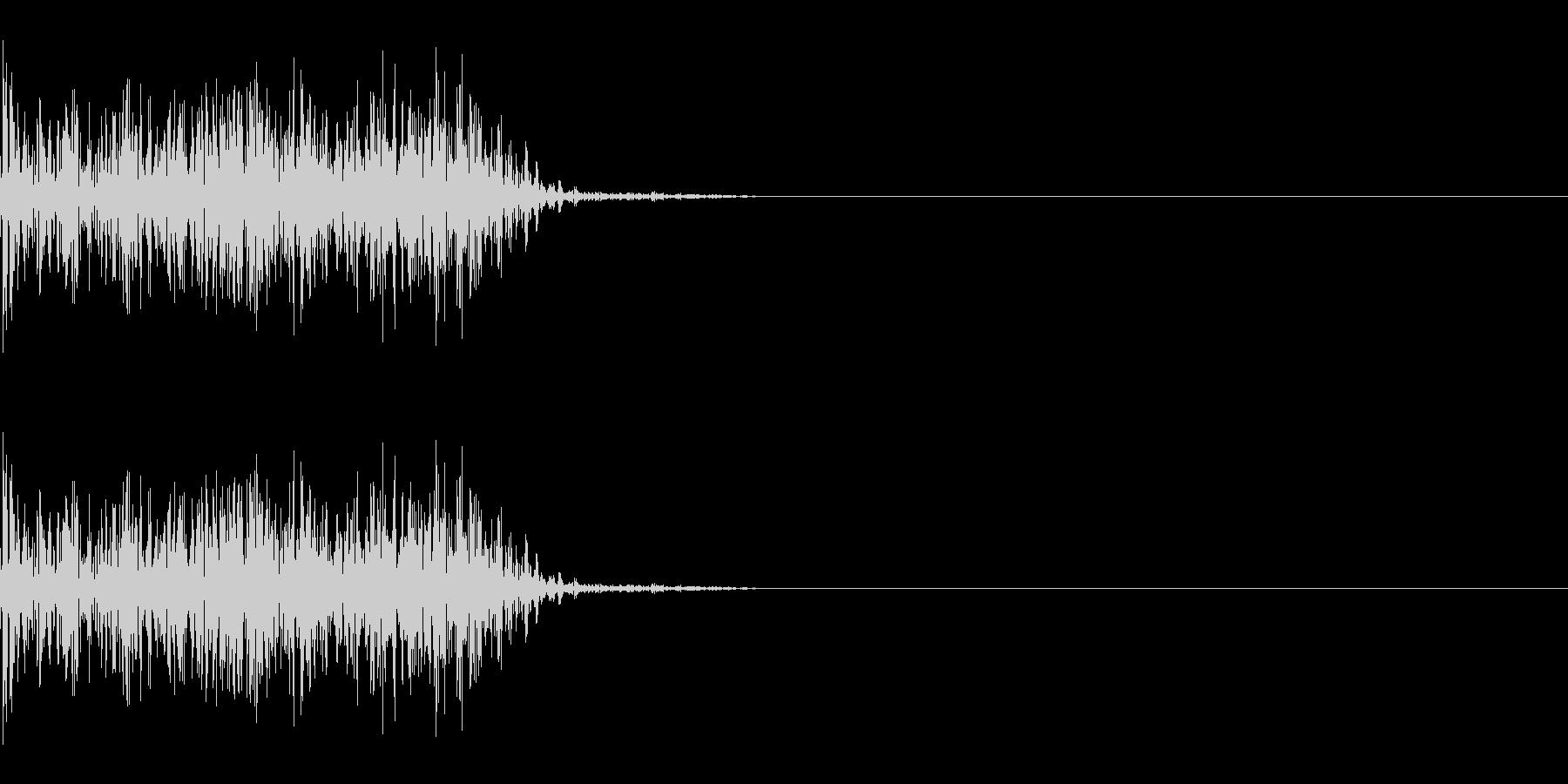 ドシャッ(ひっかく/重い/攻撃)の未再生の波形