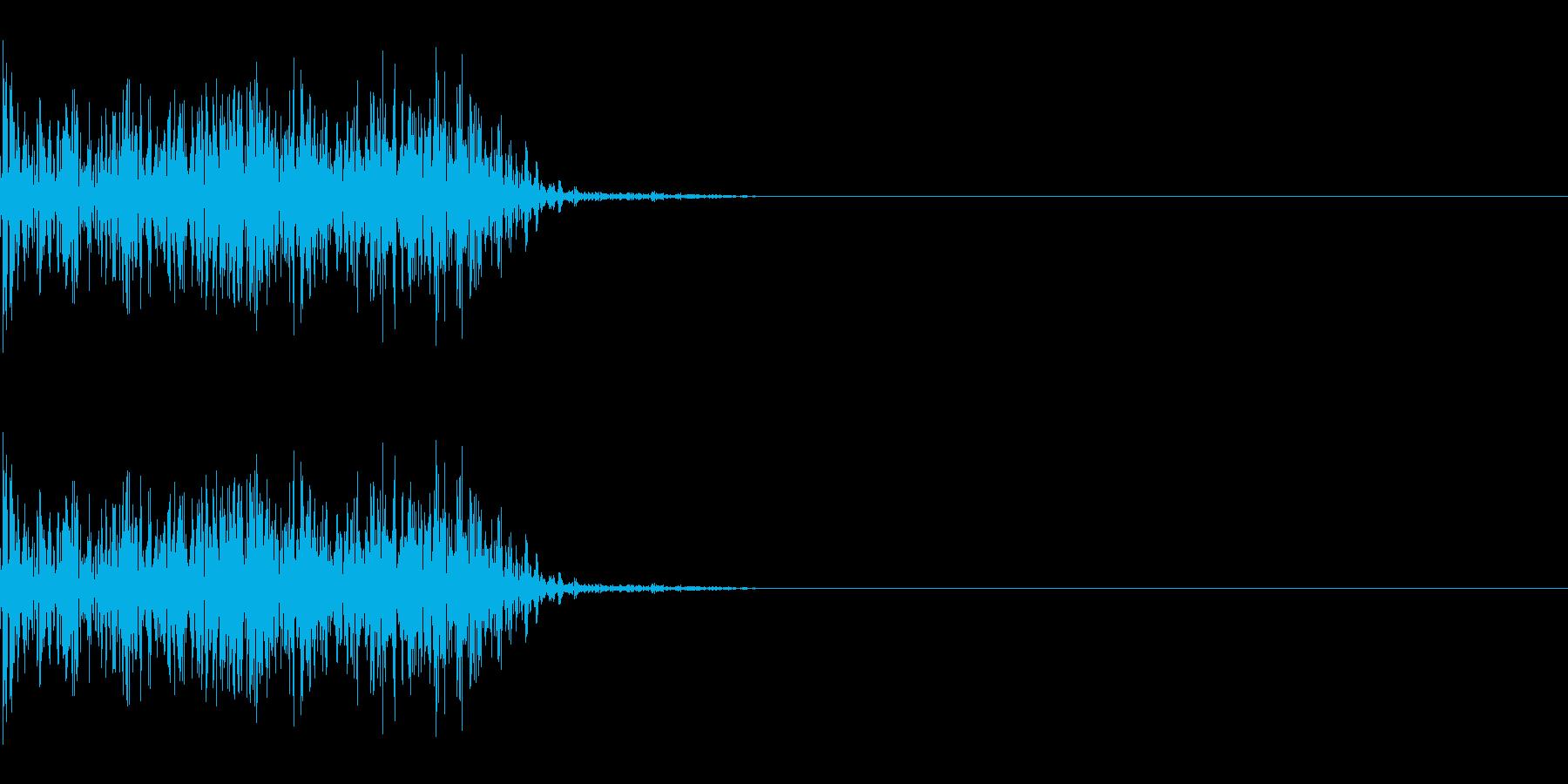 ドシャッ(ひっかく/重い/攻撃)の再生済みの波形