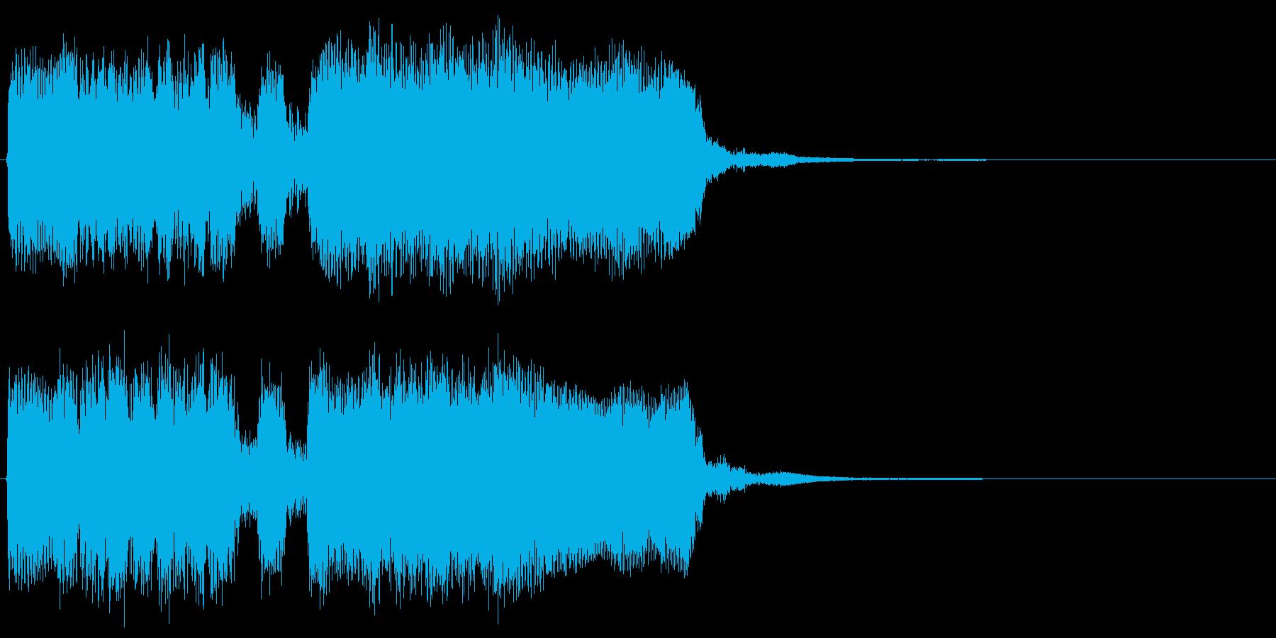 クリアした際の短いジングルの再生済みの波形