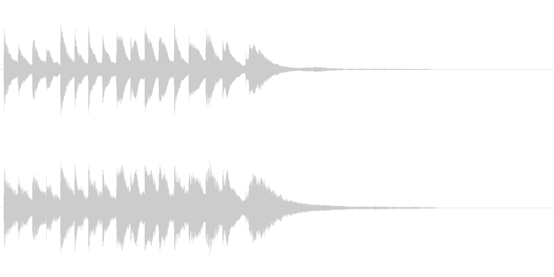 電車の発車ベル風SEの未再生の波形