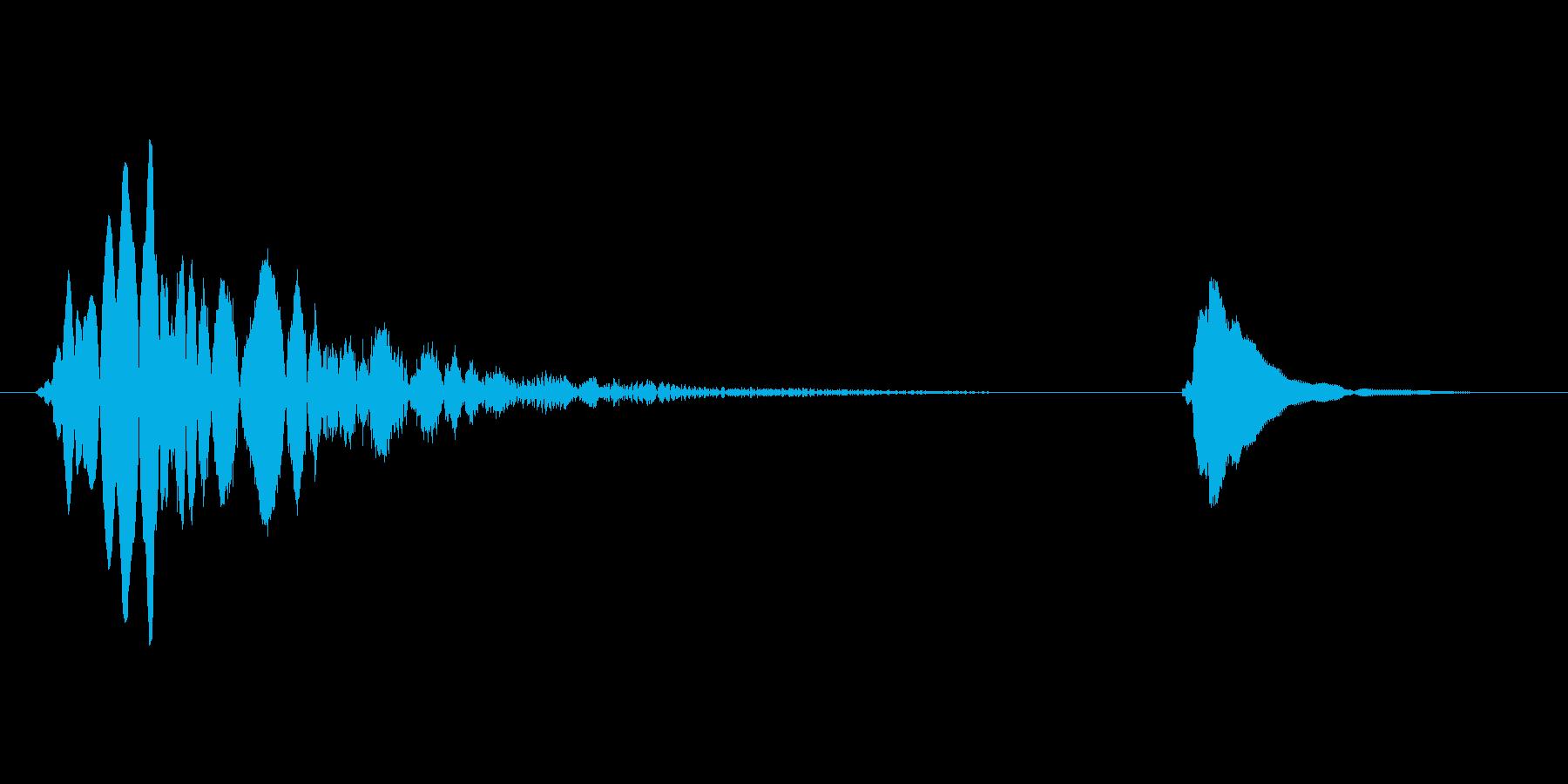 【間抜けな音】ぴょわわわぁ〜...コンの再生済みの波形