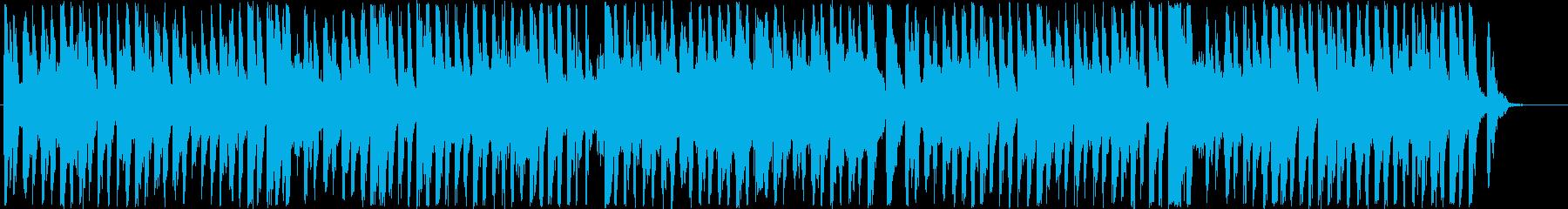 明るくポップでウキウキなアップテンポの音の再生済みの波形