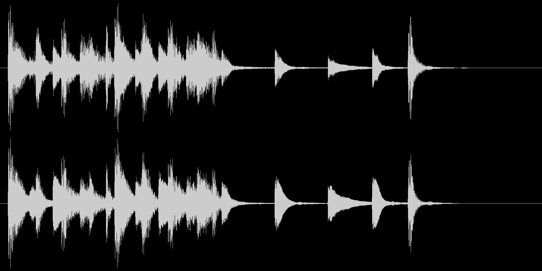 ジングル(ジャジー1)の未再生の波形