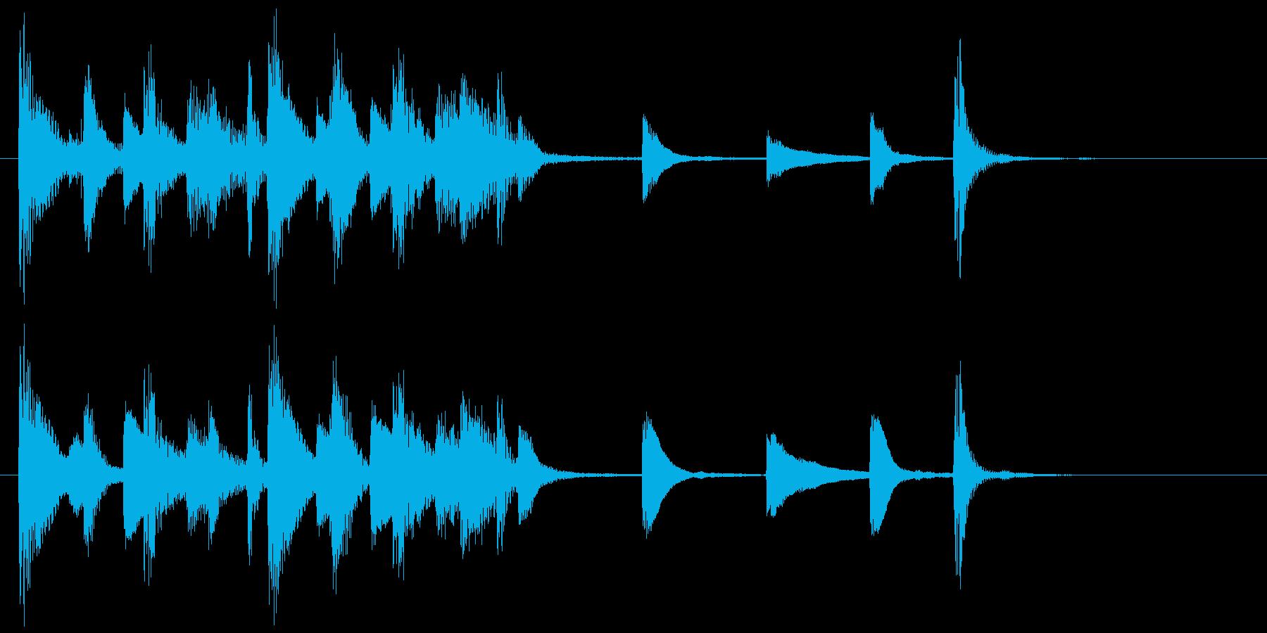 ジングル(ジャジー1)の再生済みの波形