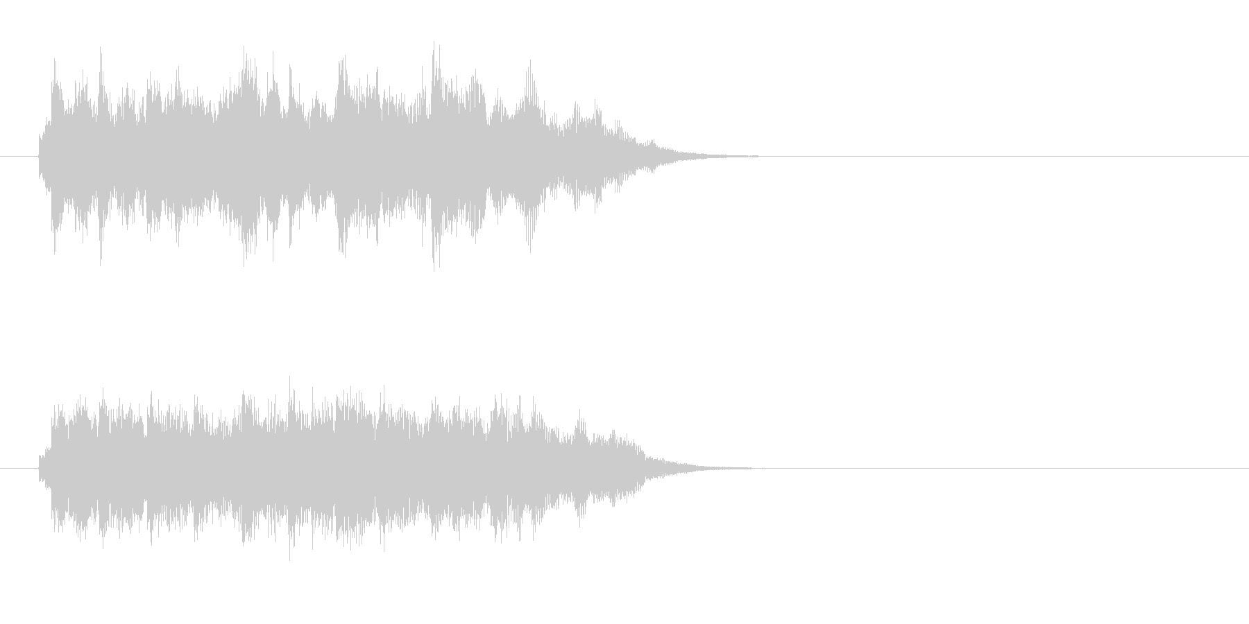 ジングル(後味のやわらかい場面転換)の未再生の波形