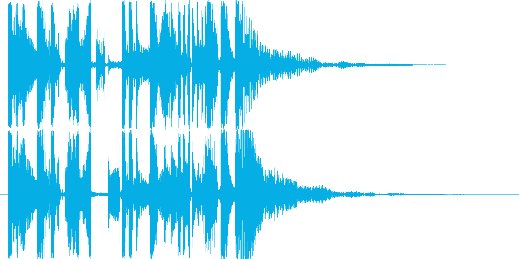 CMやラジオなどのジングルにの再生済みの波形