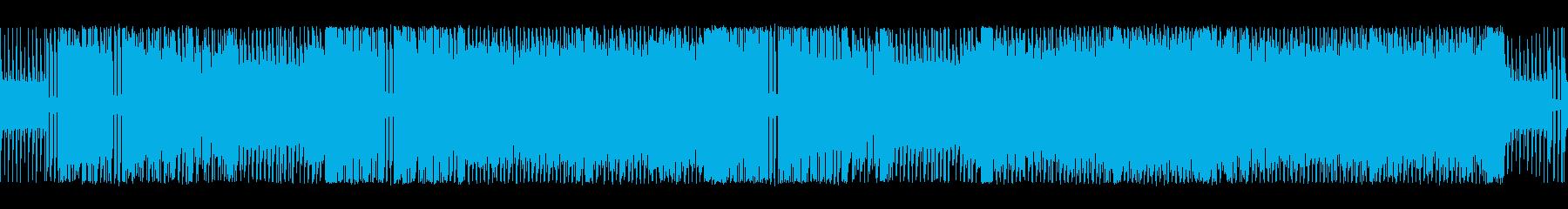アクション向きなチップチューンサウンドの再生済みの波形