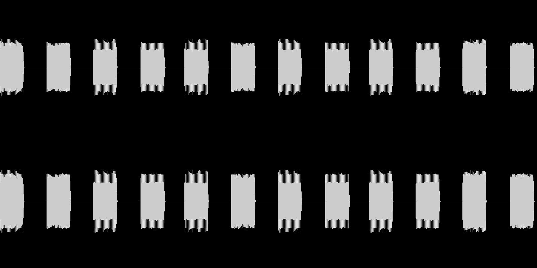 プルプルプルプルプルプルの未再生の波形