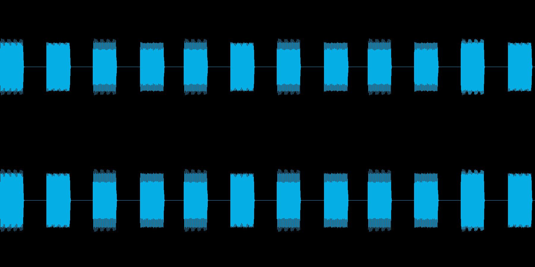 プルプルプルプルプルプルの再生済みの波形