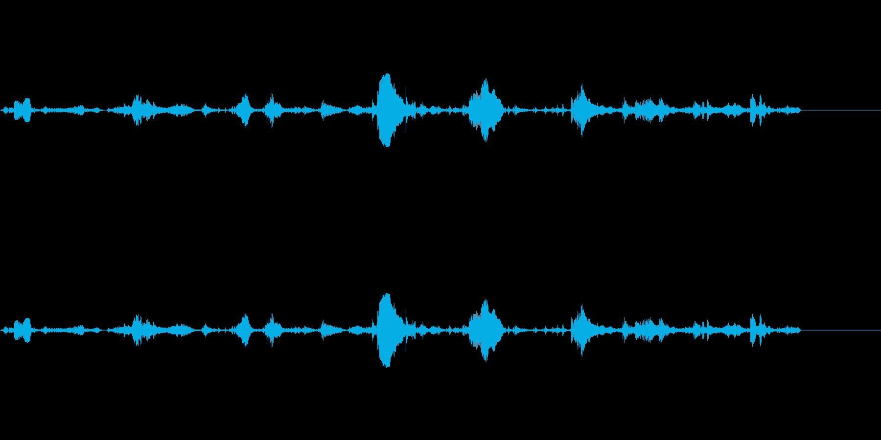 【SE 効果音】泡の音の再生済みの波形