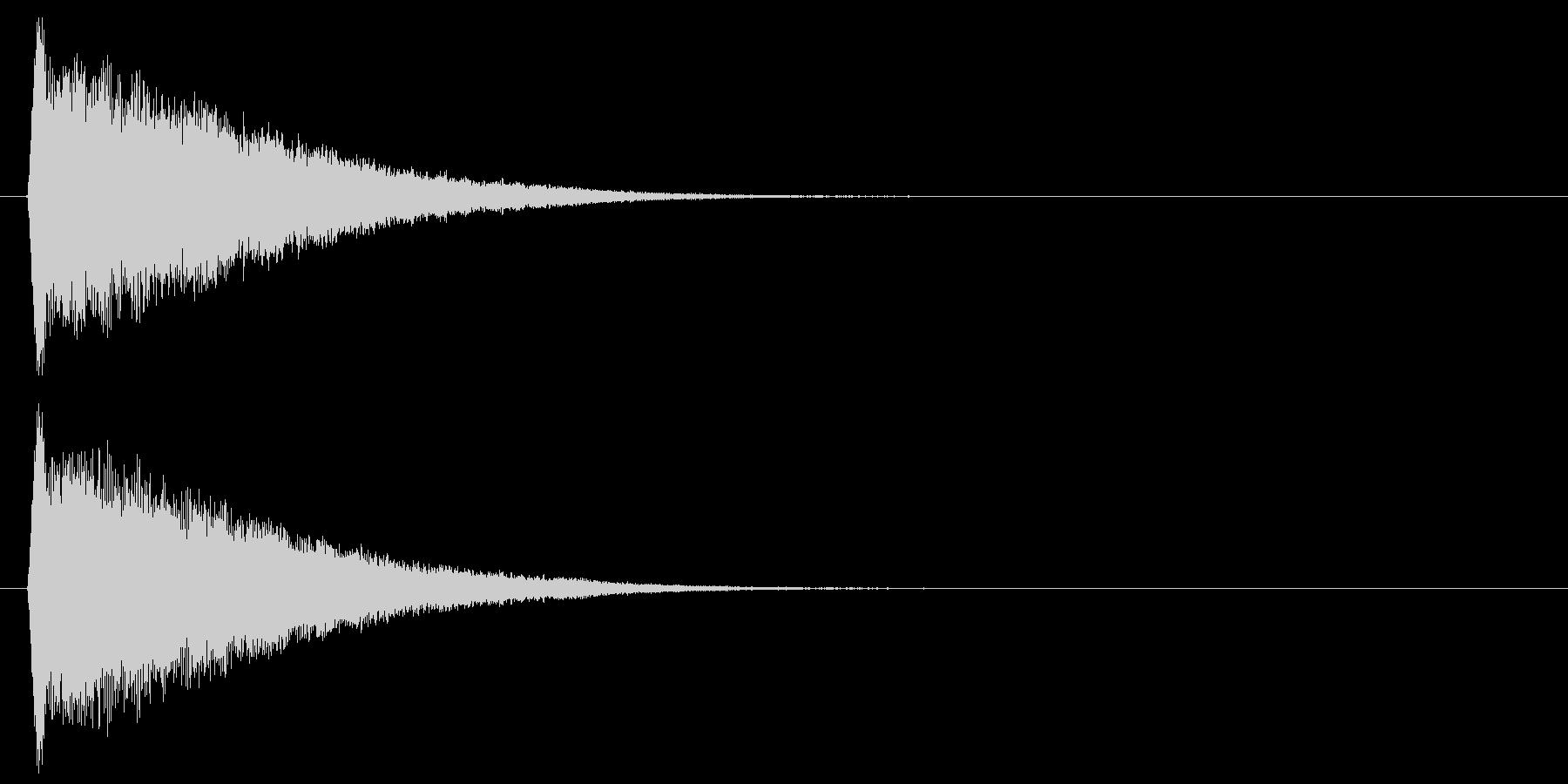キュルルルッ↑(上昇、回復、キラキラ)の未再生の波形