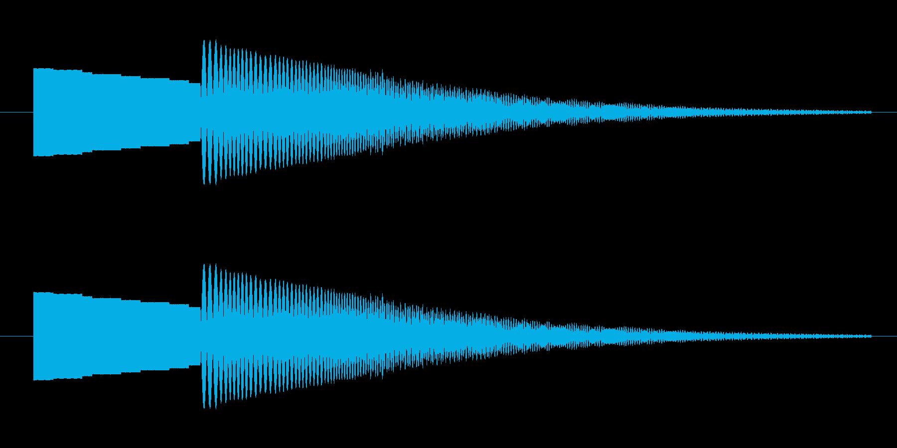 転がる、下降の再生済みの波形