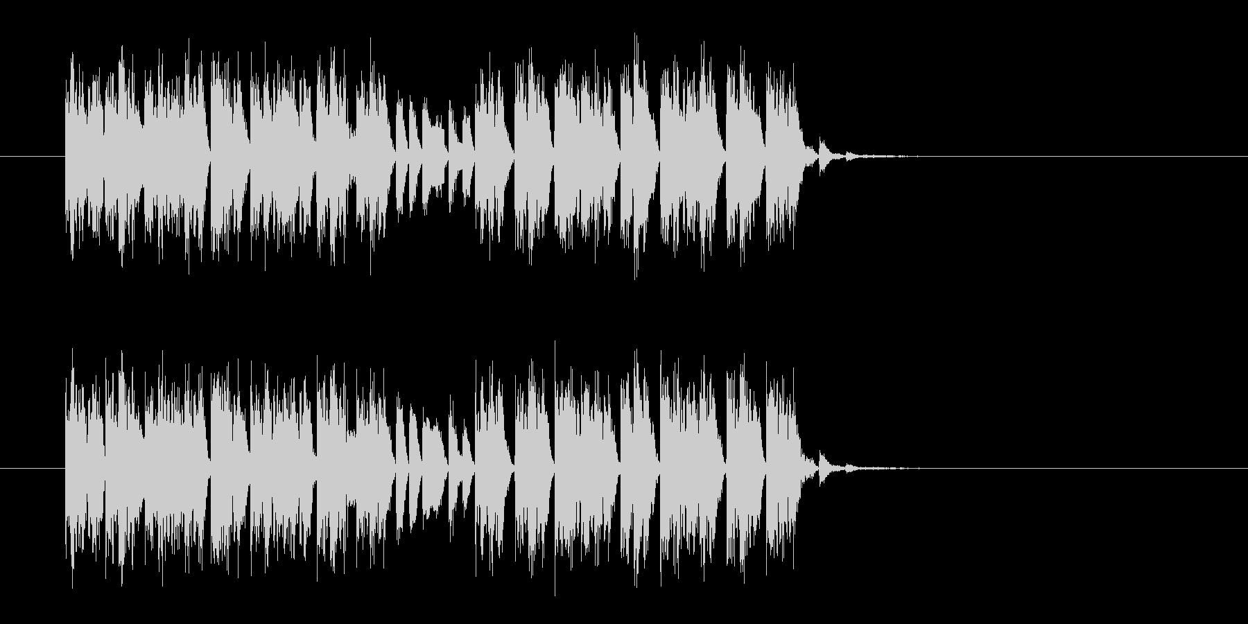 シンセとビートの不思議なテクノジングルの未再生の波形