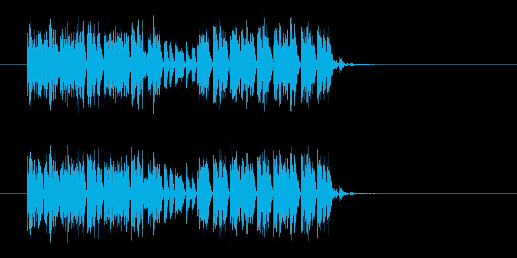 シンセとビートの不思議なテクノジングルの再生済みの波形