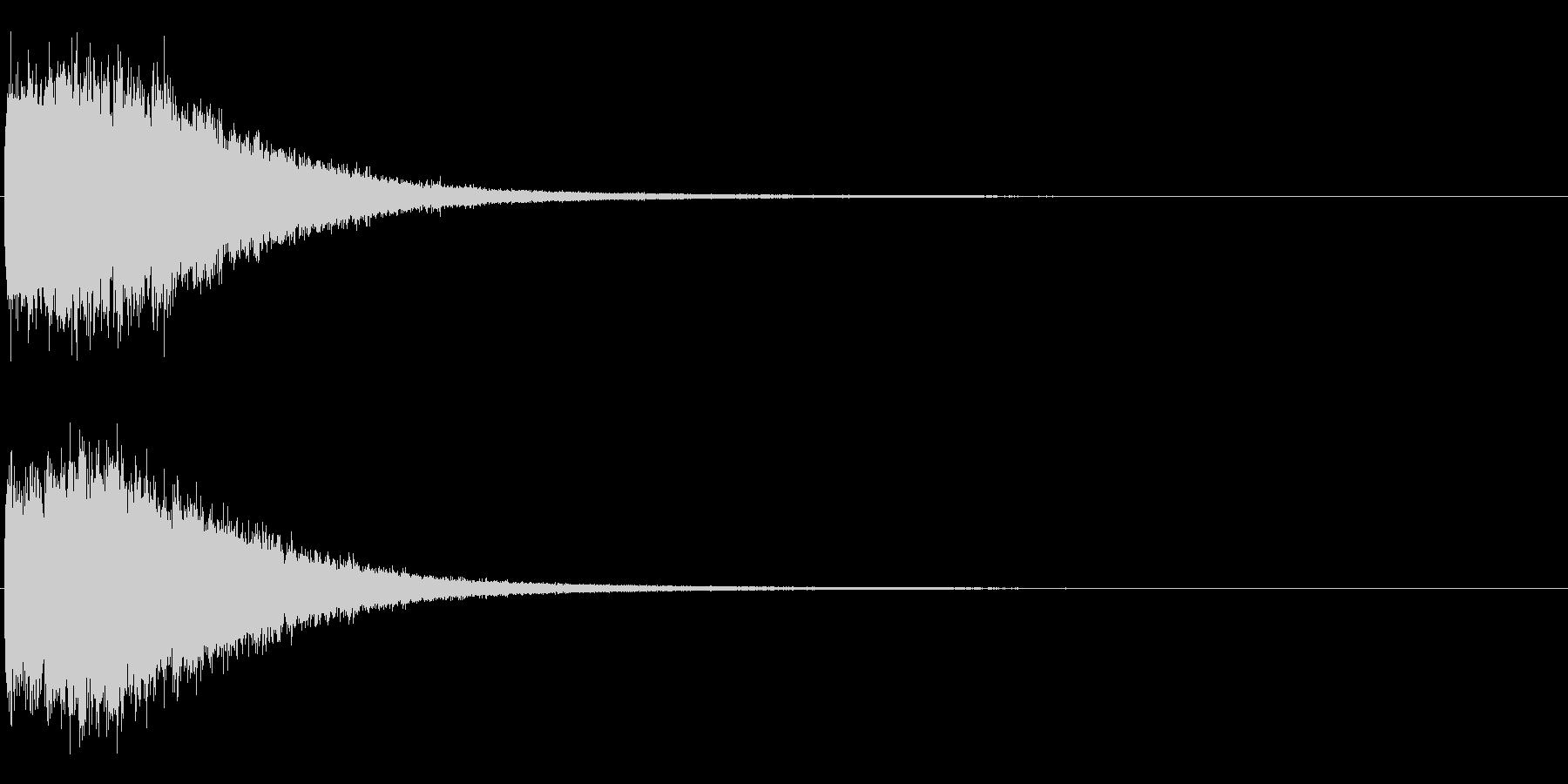 ピシャシャシャシャ インパクト音 ロゴの未再生の波形