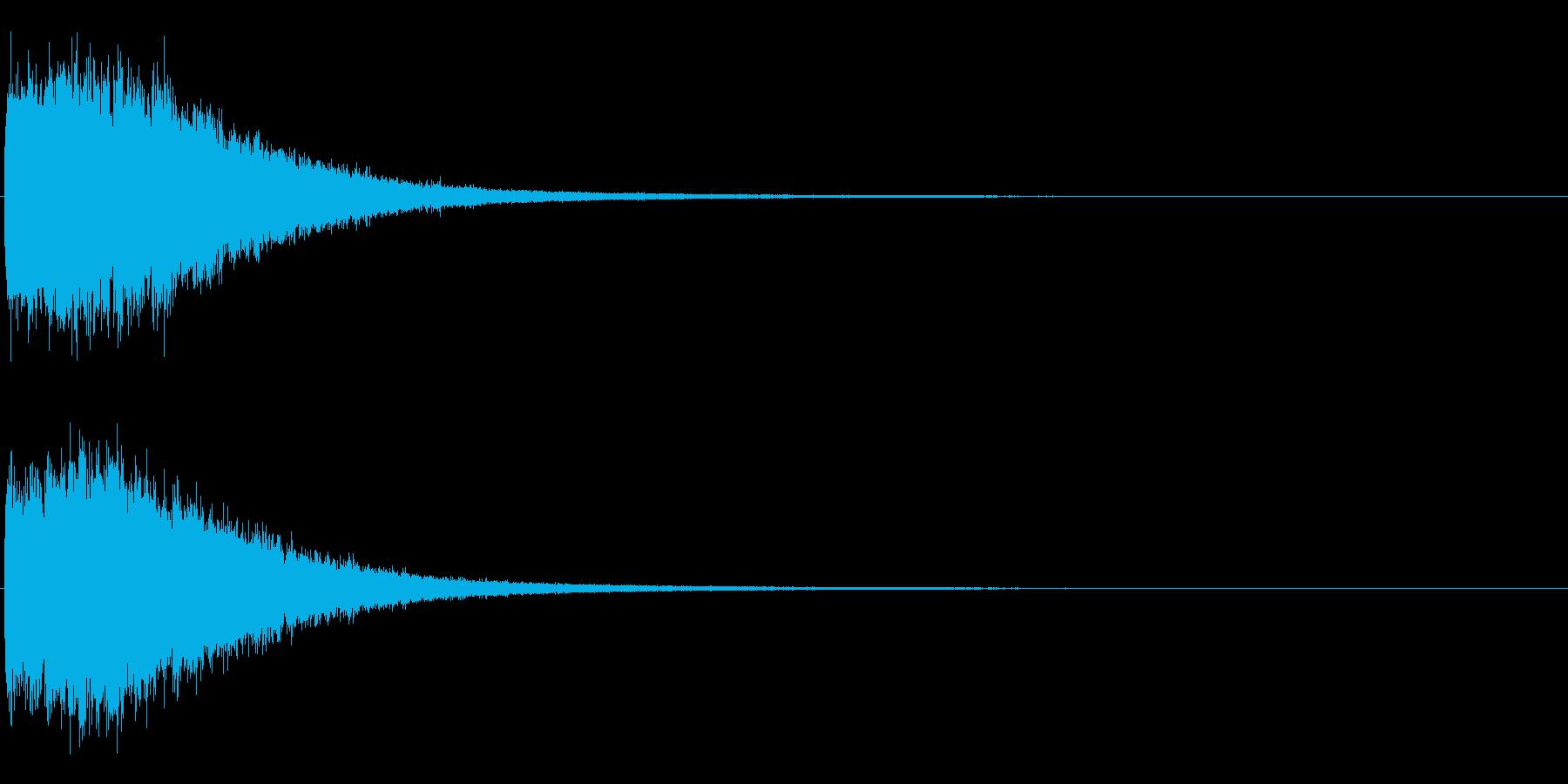 ピシャシャシャシャ インパクト音 ロゴの再生済みの波形