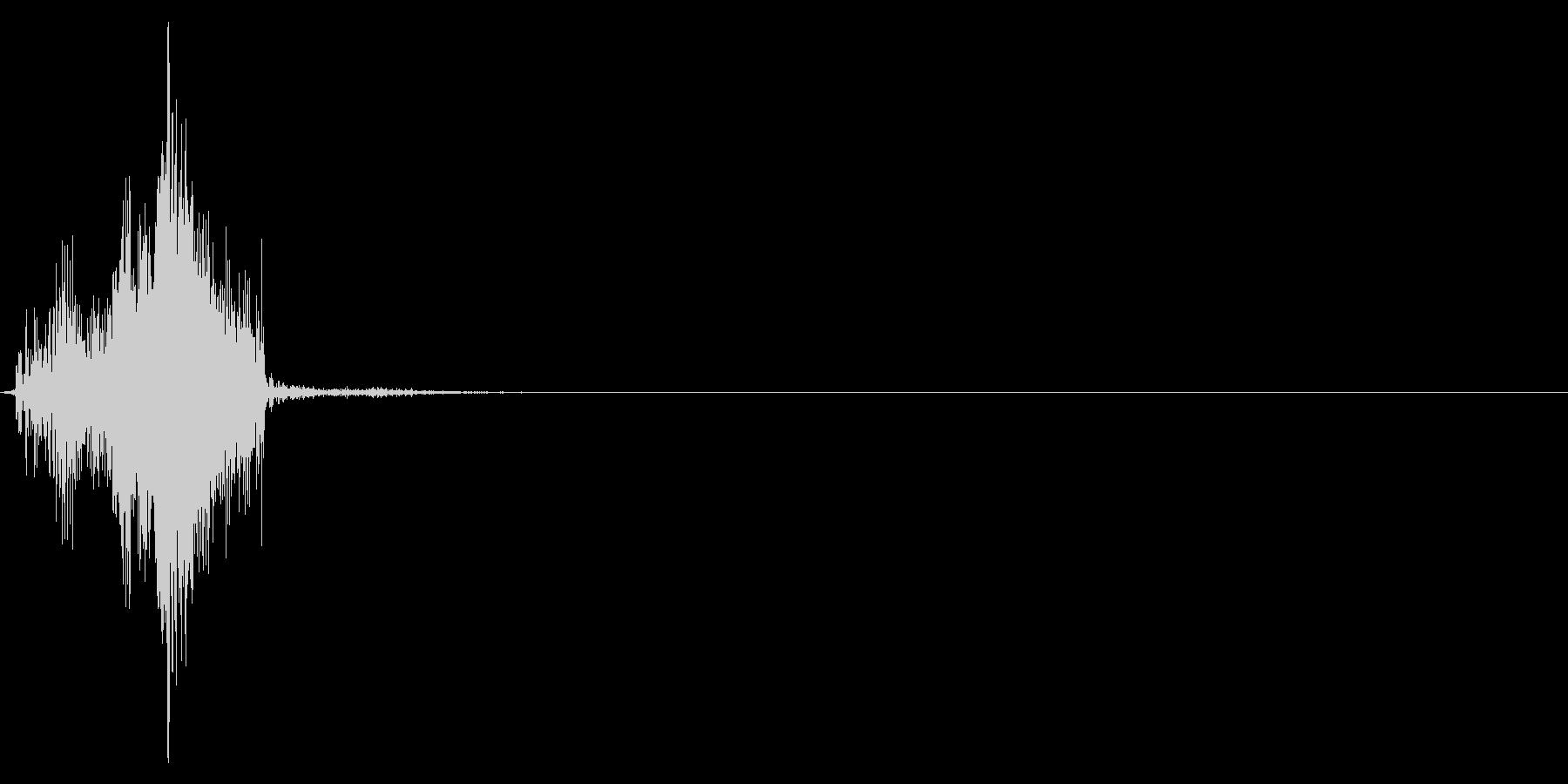 ジッパー、ファスナーを閉じる音2-3の未再生の波形