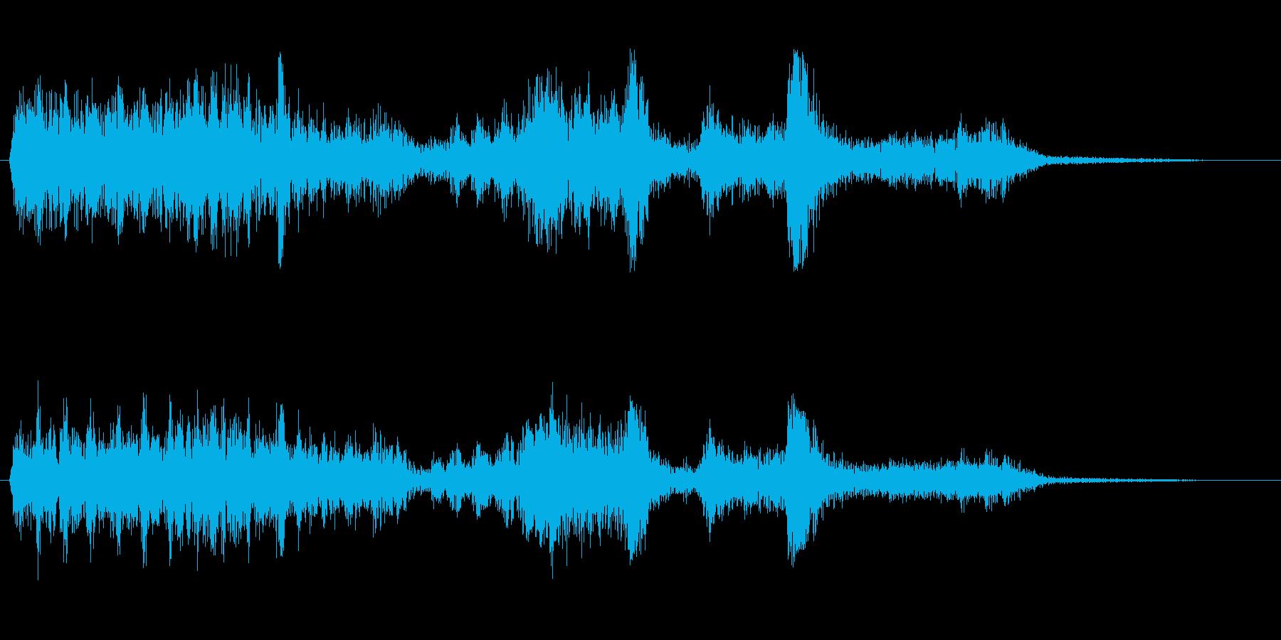 ジーガチャ(ロボットが動く効果音)の再生済みの波形