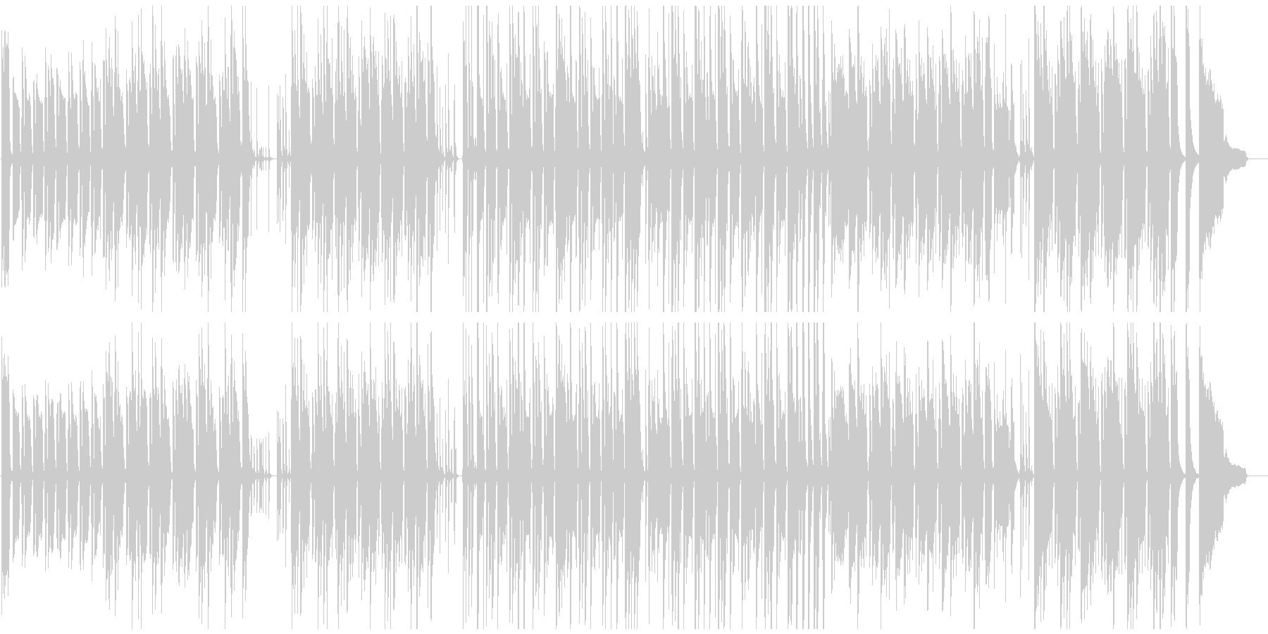 ラテン音楽ベースの日常系劇伴の未再生の波形