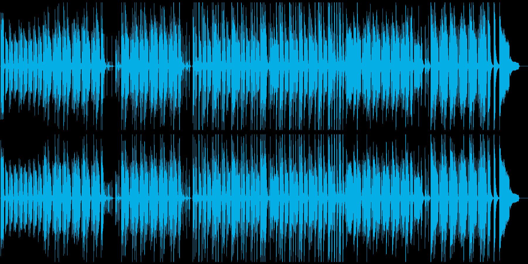 ラテン音楽ベースの日常系劇伴の再生済みの波形