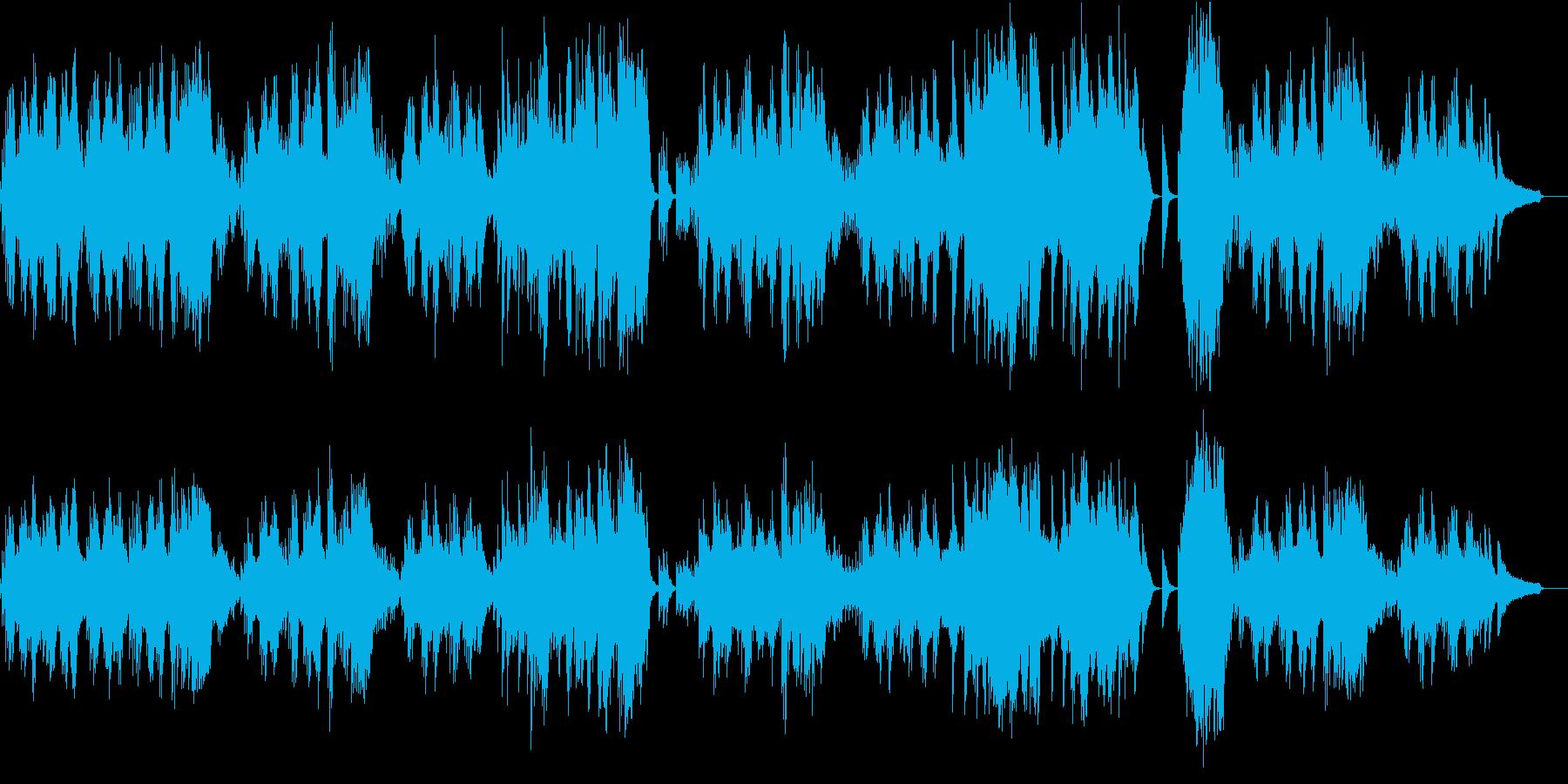 ベートーヴェンのピアノ曲の再生済みの波形