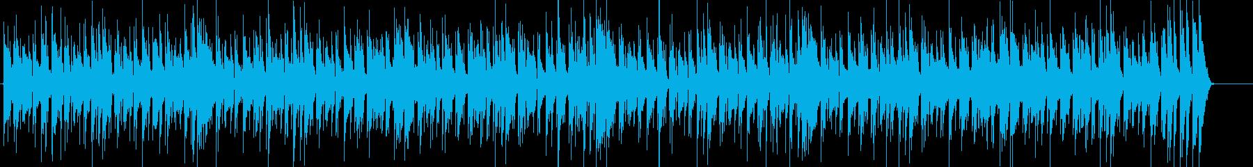 怪しくけだる気な雰囲気のファンクの再生済みの波形