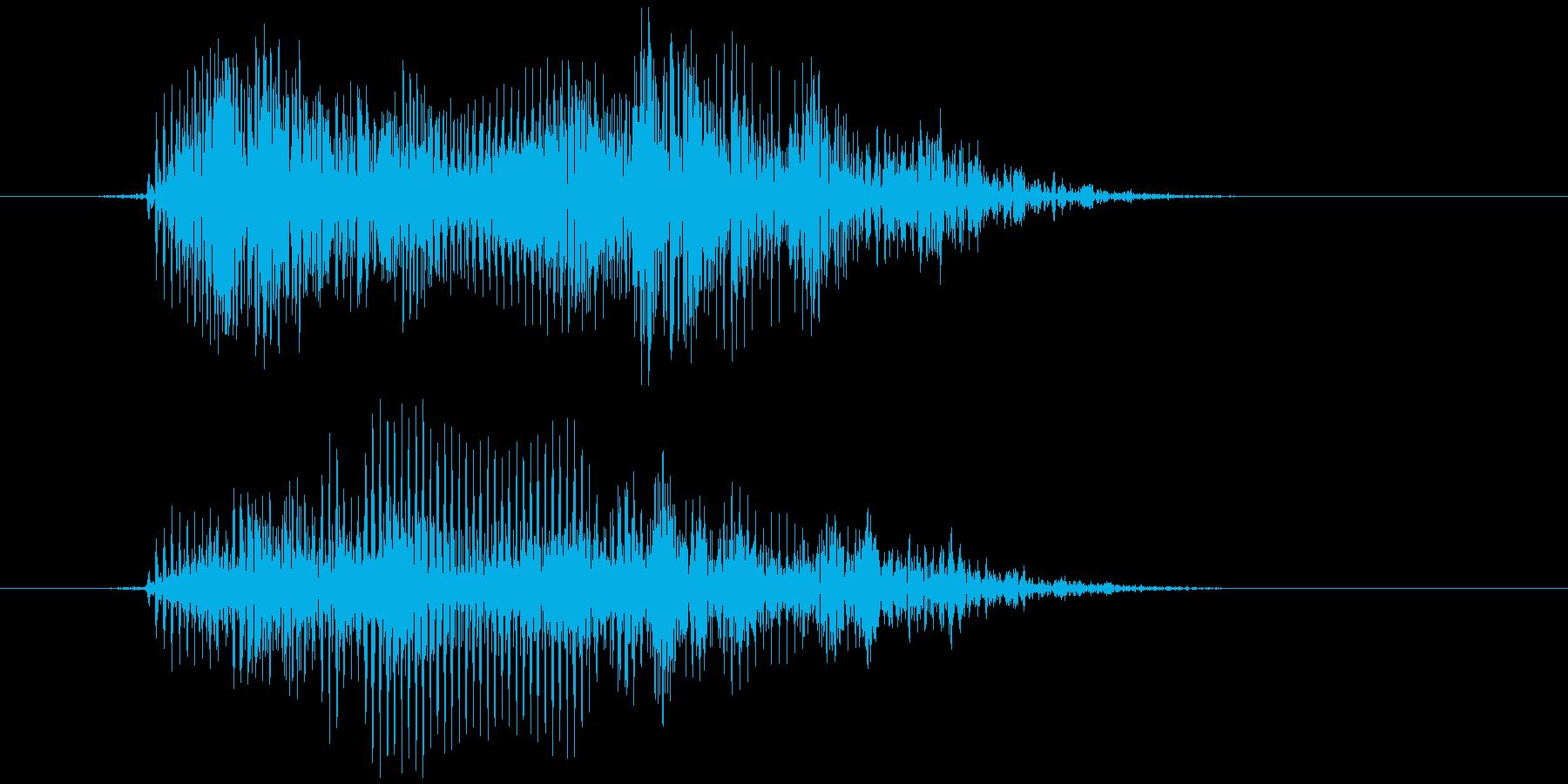 おもちゃの笛 (押す、潰す) プゥの再生済みの波形