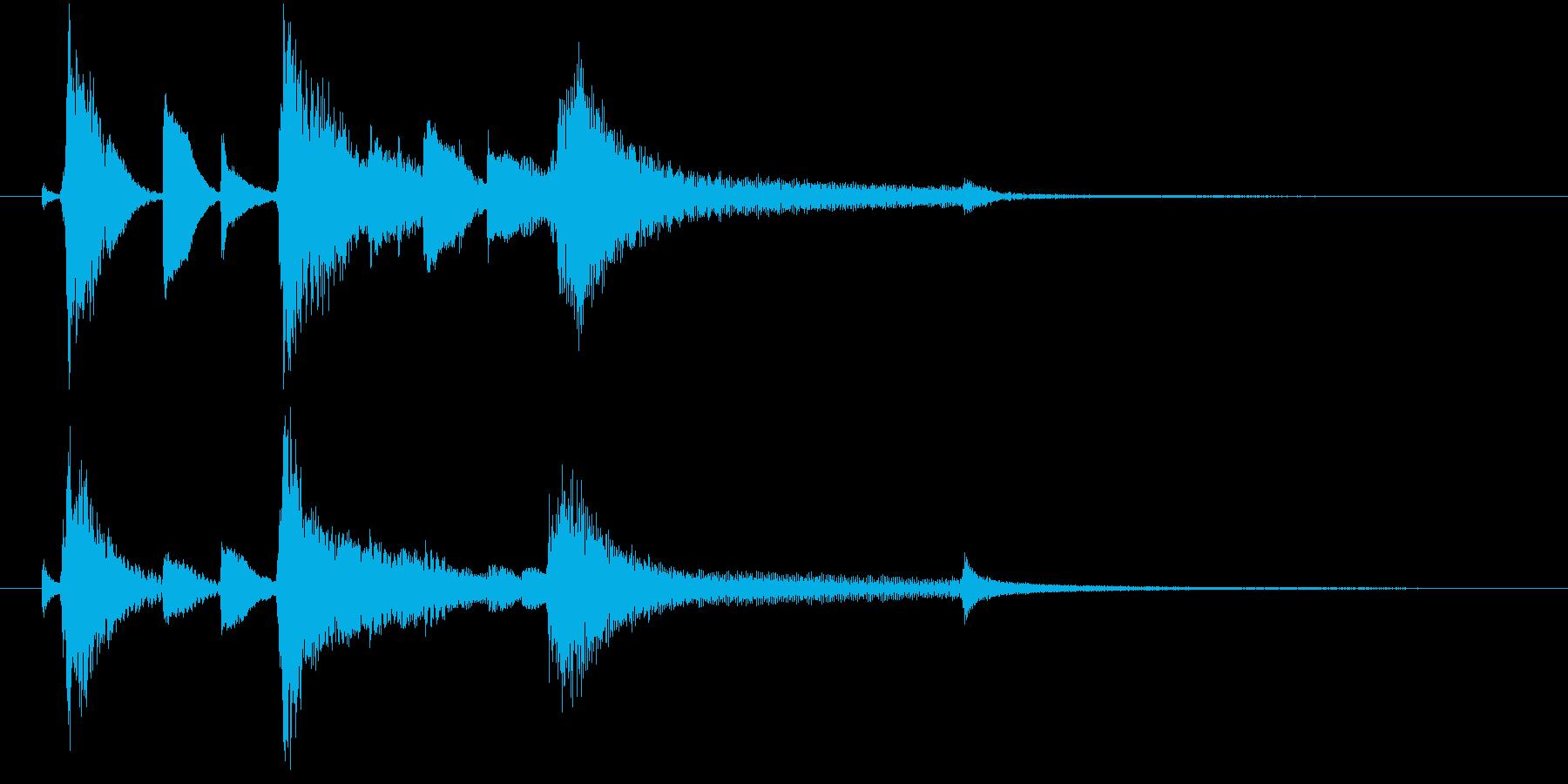ジャズトリオ シンプルでお洒落なジングルの再生済みの波形