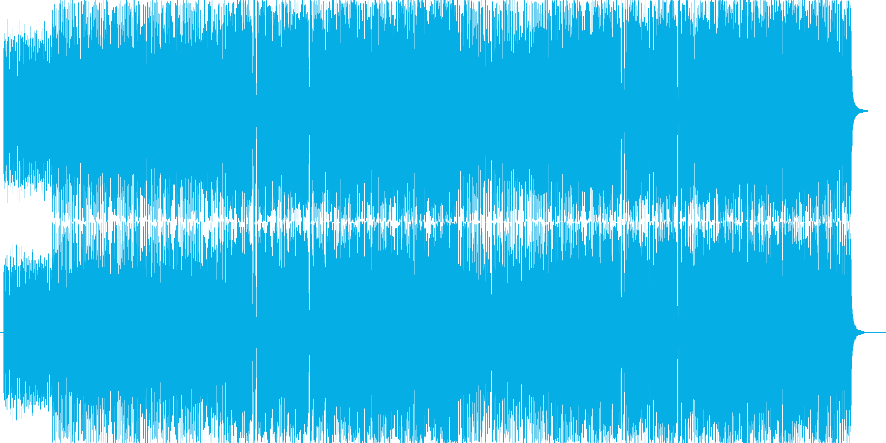 ギターをメインとした元気が出るパワフル…の再生済みの波形