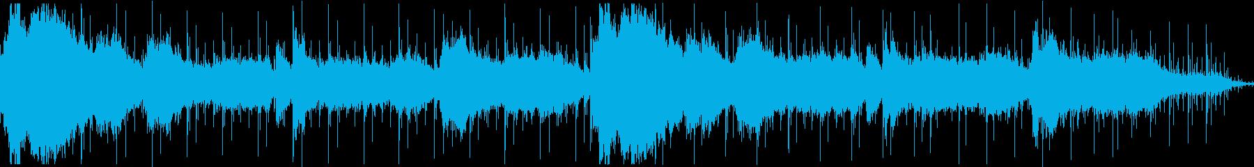 足音が入っているアンビエント系のホラー曲の再生済みの波形