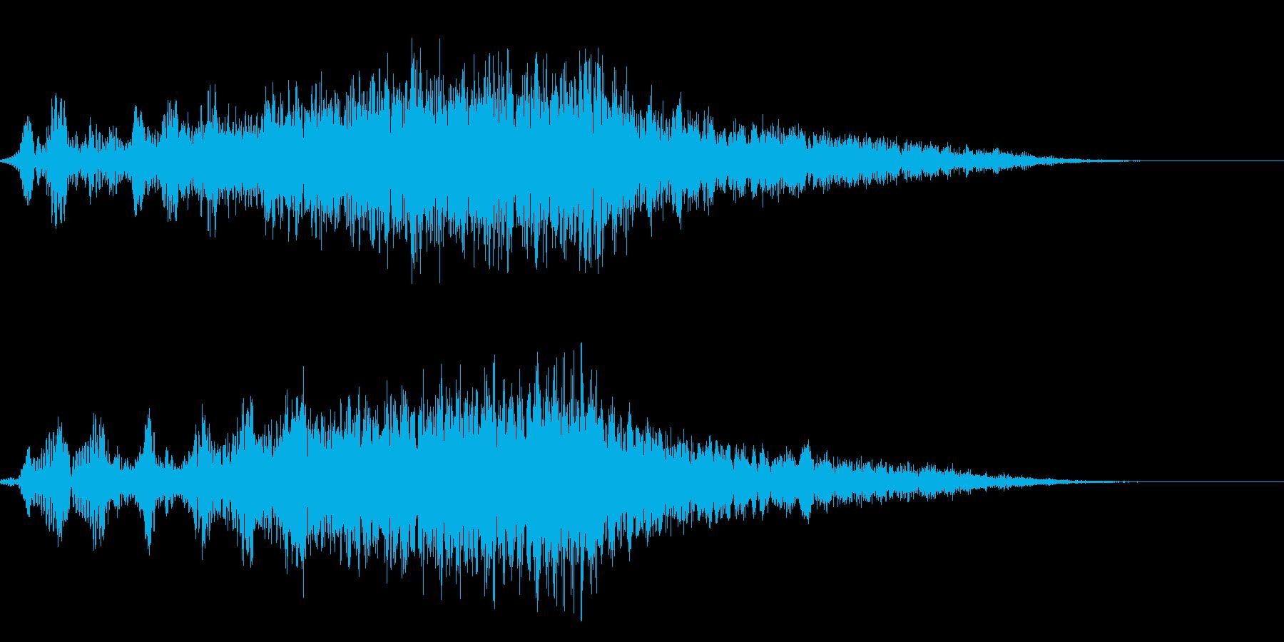 占う4 水晶 ホワ〜ン ホラー 診断結果の再生済みの波形