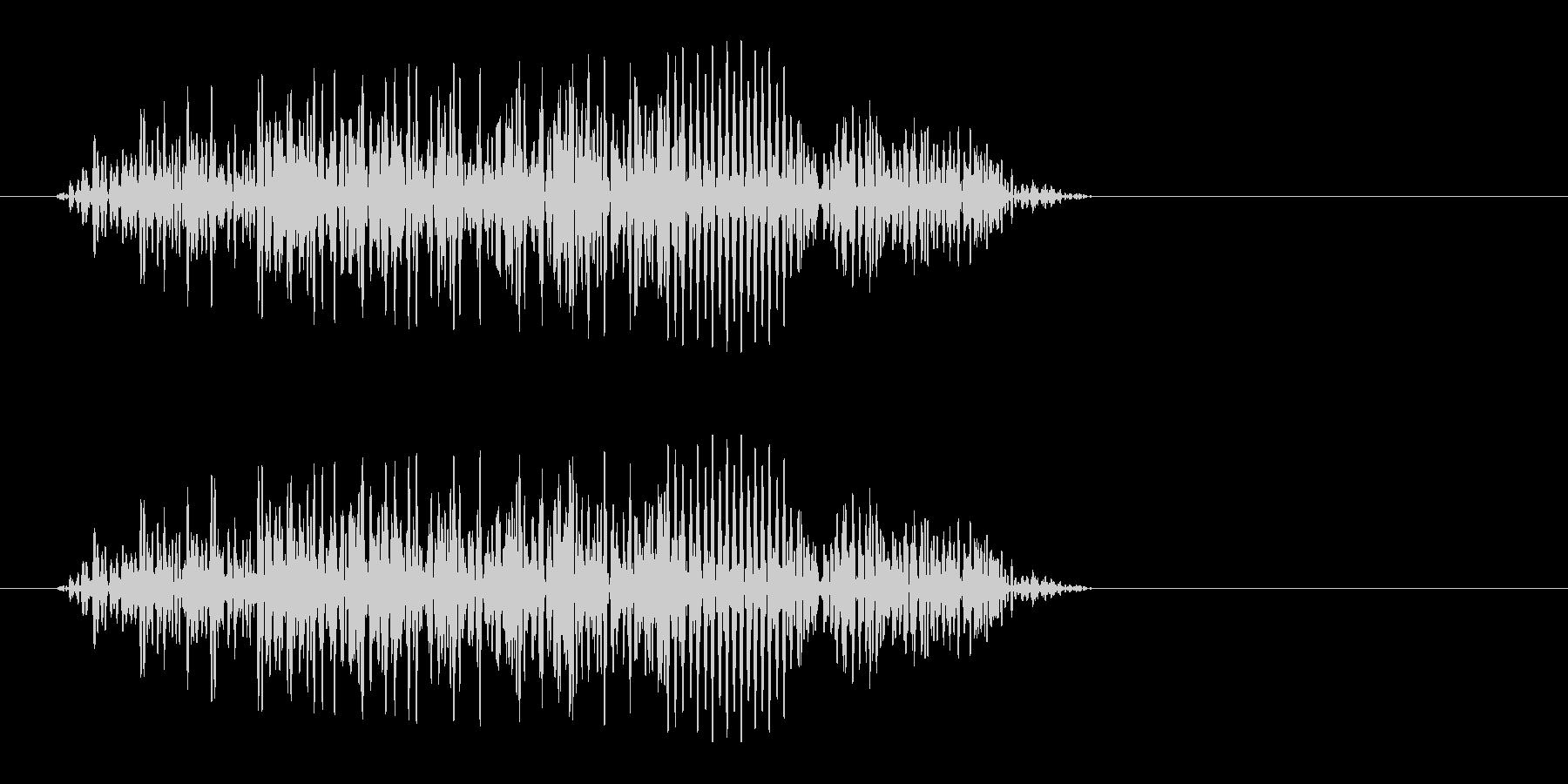 アォッというオットセイの効果音の未再生の波形