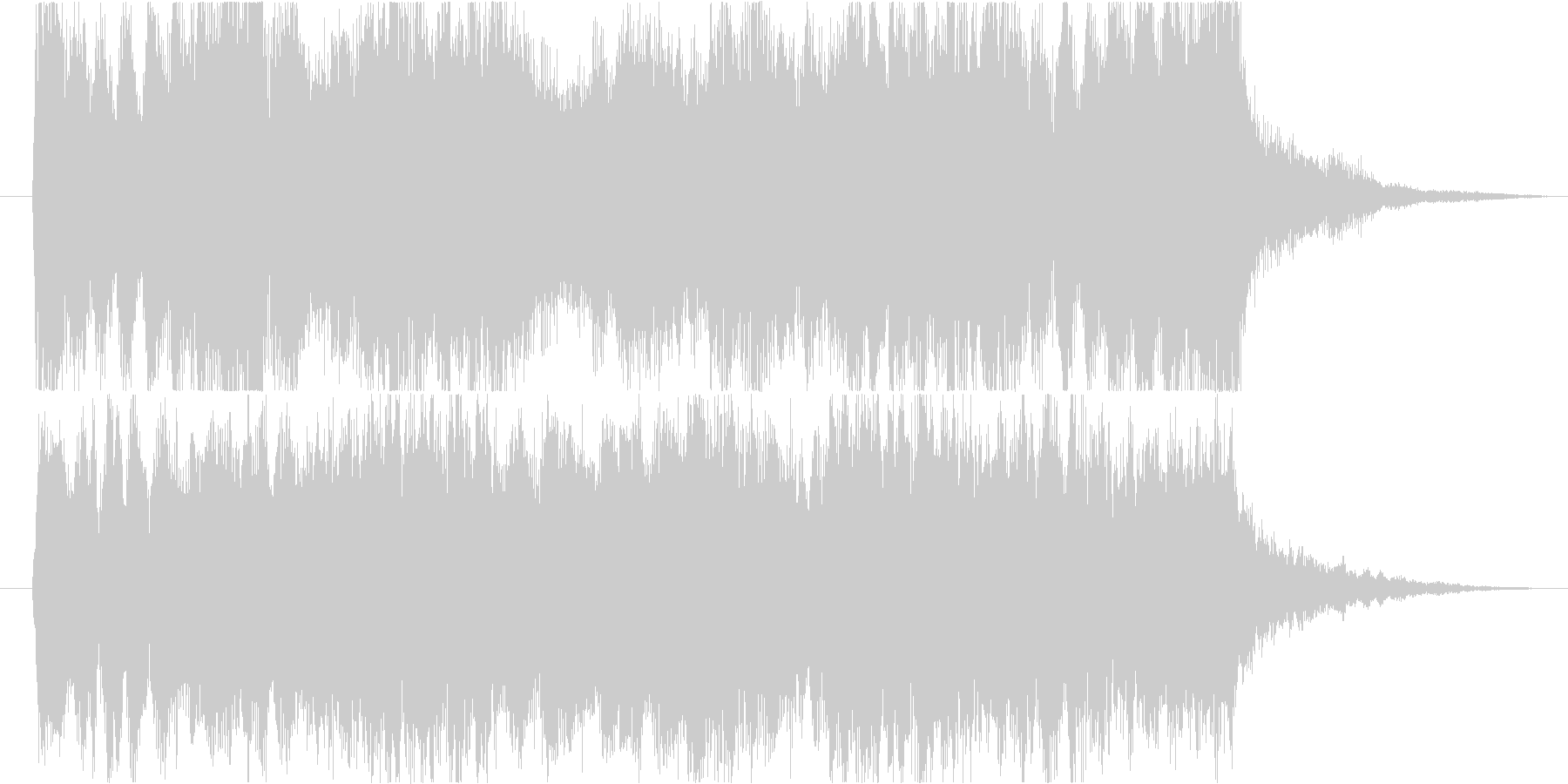 爽やかで力強いタイトル向き10秒の未再生の波形