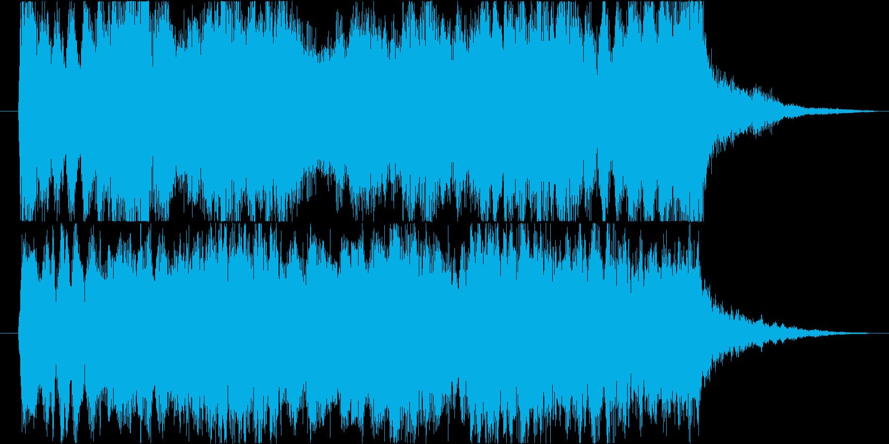爽やかで力強いタイトル向き10秒の再生済みの波形