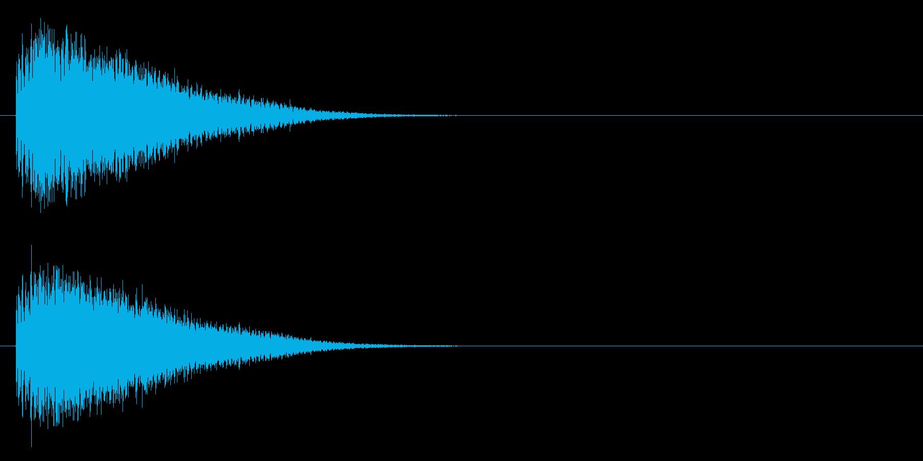 登場 銅鑼の再生済みの波形