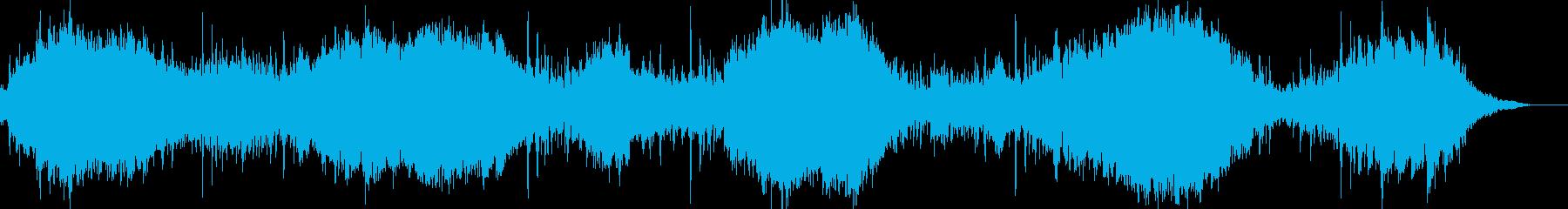 サスペンス&ホラー向きの緊迫したBGMの再生済みの波形