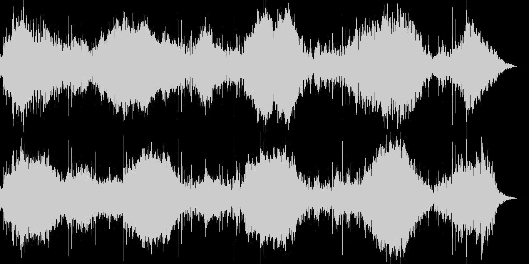 サスペンス&ホラー向きの緊迫したBGMの未再生の波形