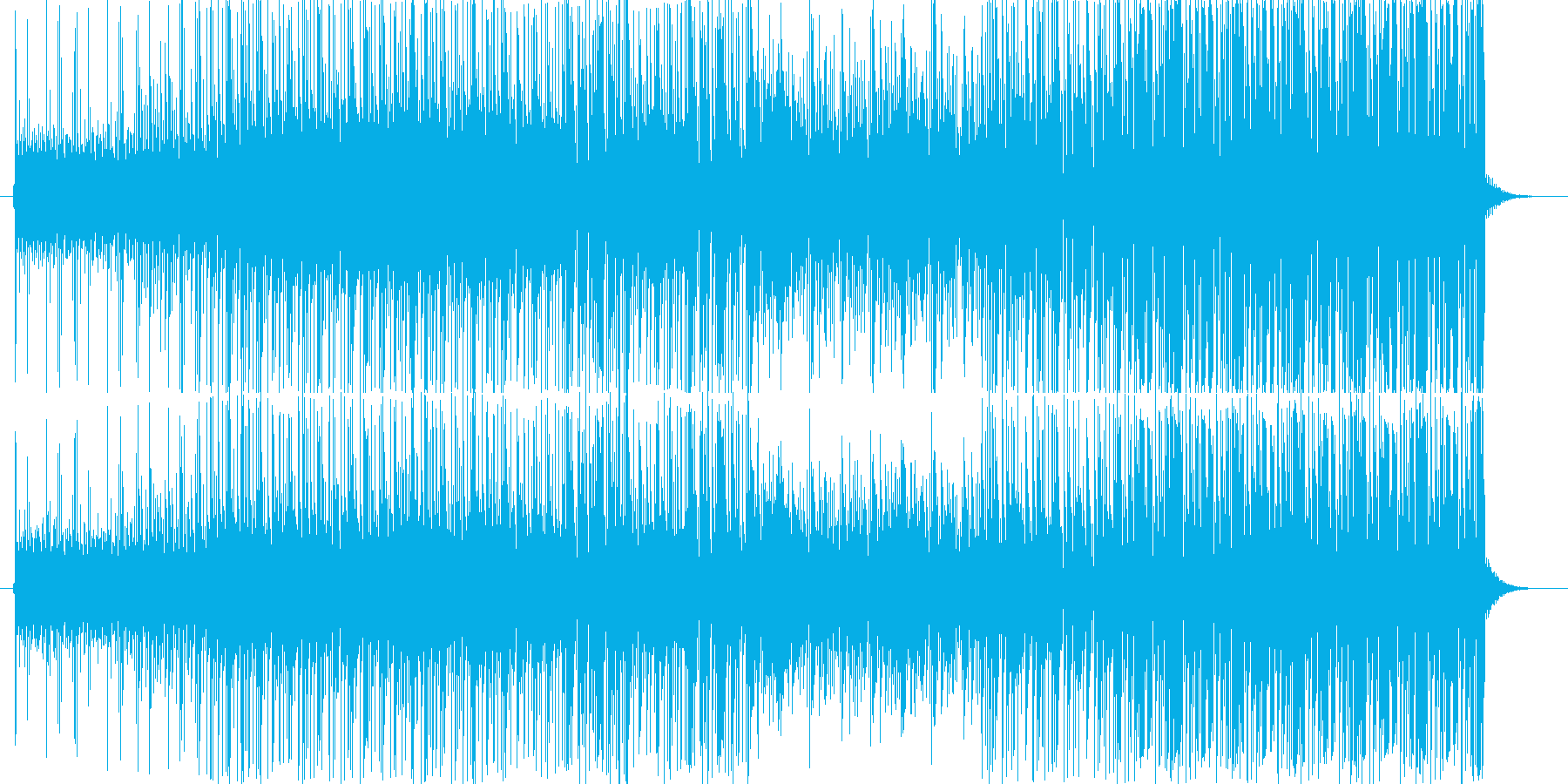 ゲームやドラマ、CMなどで使えるロック曲の再生済みの波形