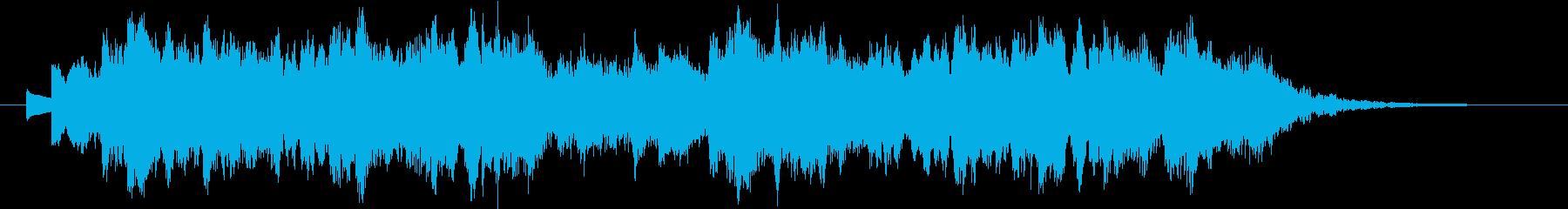 怪しくホラー感漂う、オルゴール曲の再生済みの波形