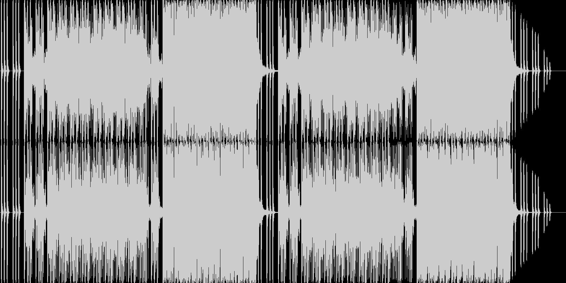 ホラーで不気味なダークエレクトロの未再生の波形