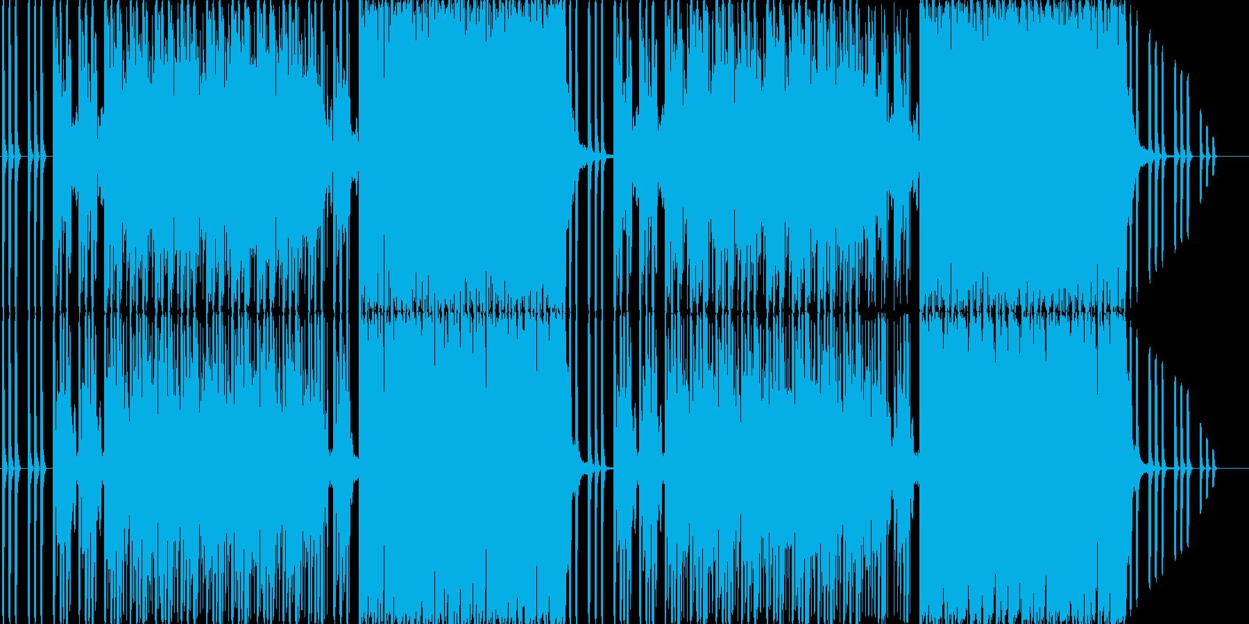 ホラーで不気味なダークエレクトロの再生済みの波形