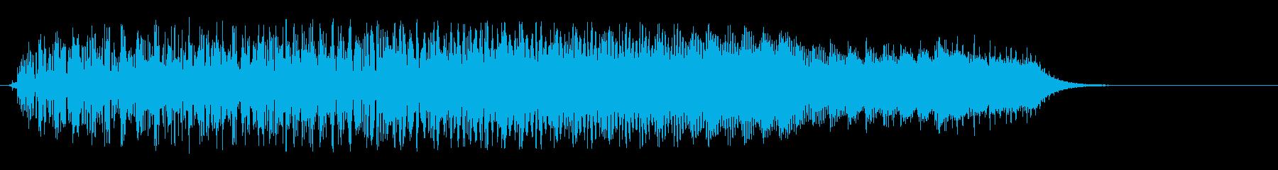 キラキラ系(上がる)の再生済みの波形