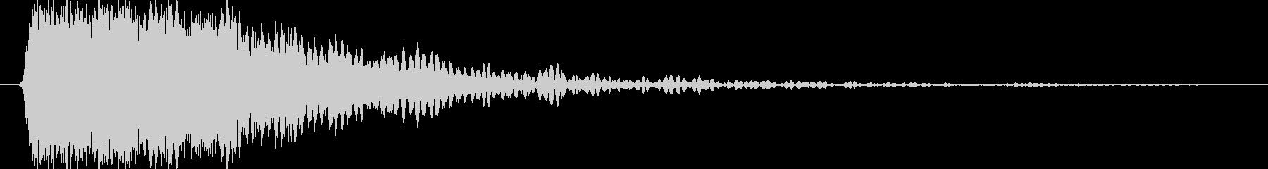 ガキーン 派手な金属音2の未再生の波形