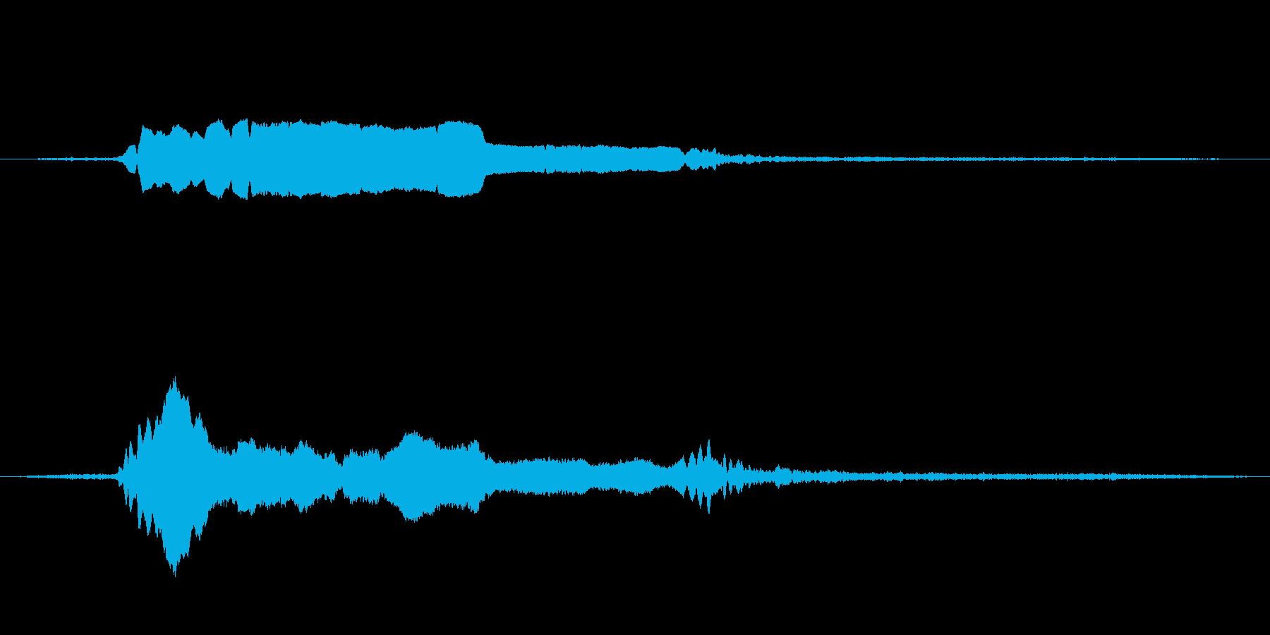 機関車の甲高い警笛の再生済みの波形