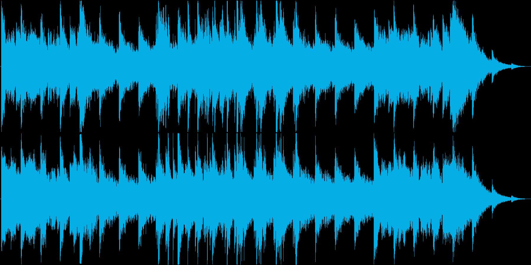 不思議・不穏で悲しげな曲の再生済みの波形